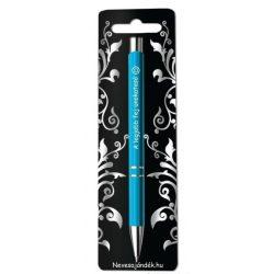 Gravírozott toll, A legjobb fej unokatesó, kék