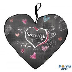 Szív alakú párna, Szeretlek, krétával rajzolva