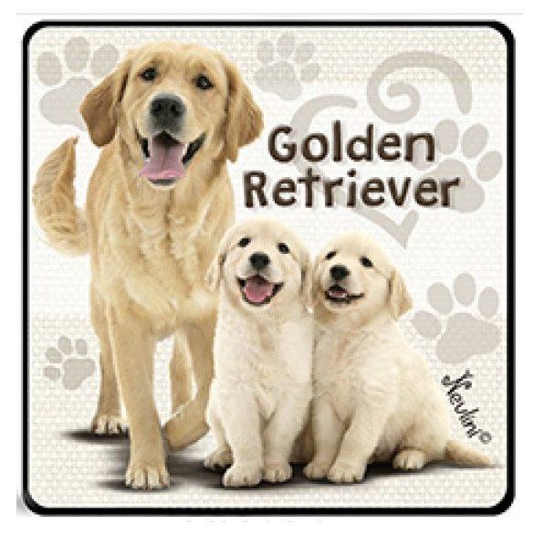 Kutyás hűtőmágnes, Golden Retriever