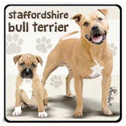 Kutyás hűtőmágnes, Staffordshire Bull Terrier