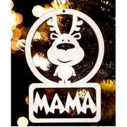 Karácsonyfa dísz, Mama, rénszarvas