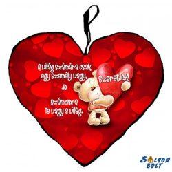 Szív alakú párna, a világ számára...