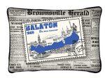 Balaton díszpárna, bélyeg és újság