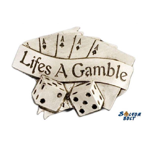 Póker kártya övcsat