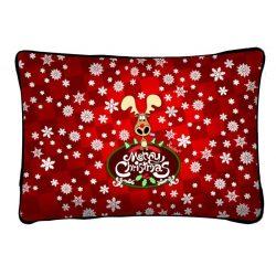 Díszpárna karácsonyra, rénszarvasos karácsony