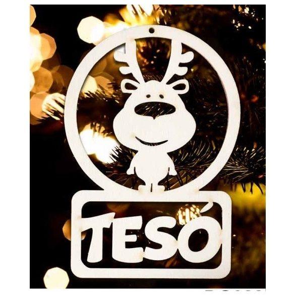 Karácsonyfa dísz, Tesó, rénszarvas