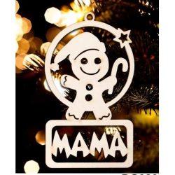 Karácsonyfa dísz, Mama, manó