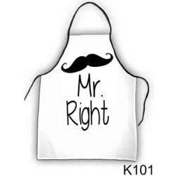 Szakács kötény, Mr Right
