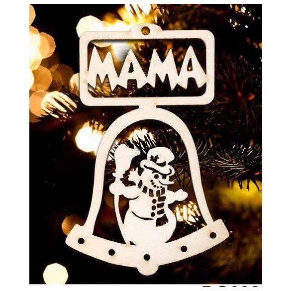 Karácsonyfa dísz, Mama, hóember