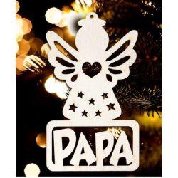 Karácsonyfa dísz, Papa, angyal