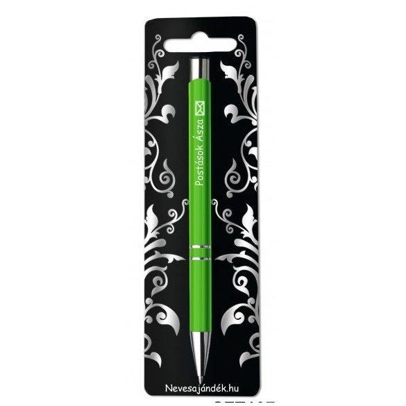 Gravírozott toll, Postások ásza, zöld