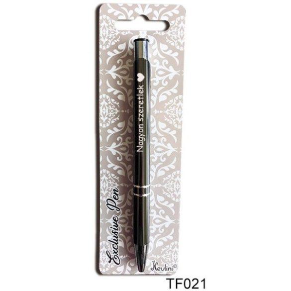 Gravírozott toll, nagyon szeretlek, szerelmes ajándék