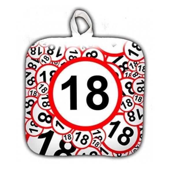 Születésnapi edényfogó, 18, 20, 30, 40, 50, 60 számokkal