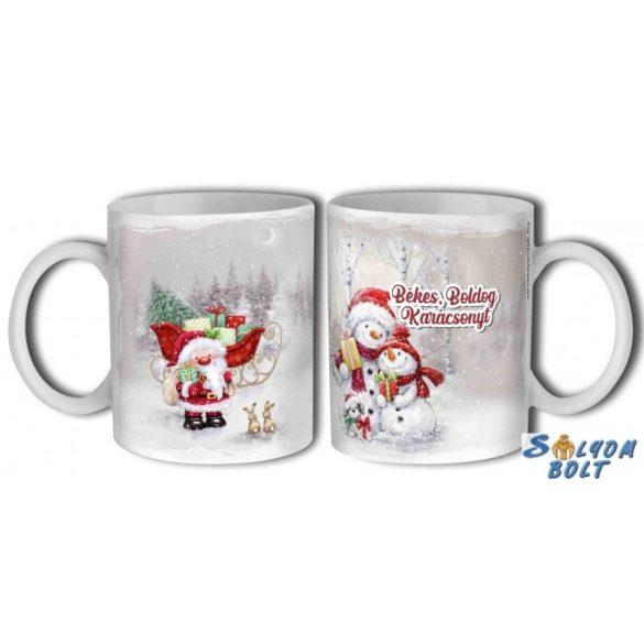 Bögre karácsonyra, hóemberek, nyuszik és Mikulás