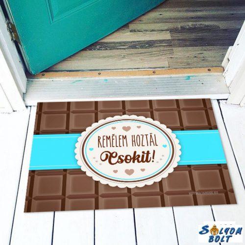 Vicces színes lábtörlő, Remélem hoztál csokit