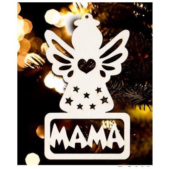 Karácsonyfa dísz, Mama, angyal