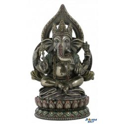 Ganesha lótuszágyon ülve szobor