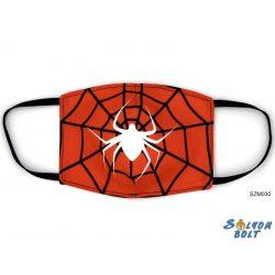 Vicces szájmaszk, pókháló pókkal