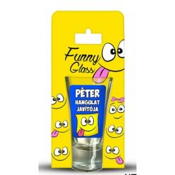 Péter pálinkás pohár