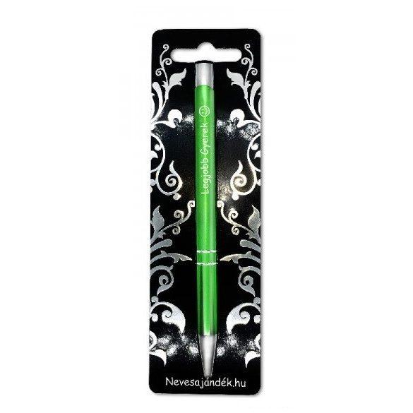 Gravírozott toll, Legjobb gyerek, zöld