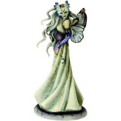 Tündér álarccal, téli maszkabál szobor