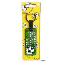 Vicces kulcstartó, focista szív
