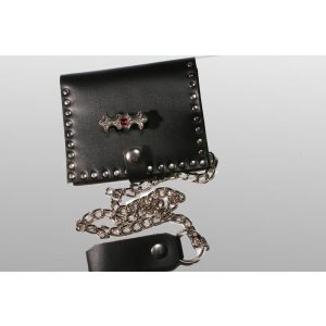 Leather wallet, Gothic ornament