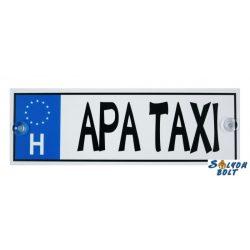 Vicces Apa taxi rendszámtábla