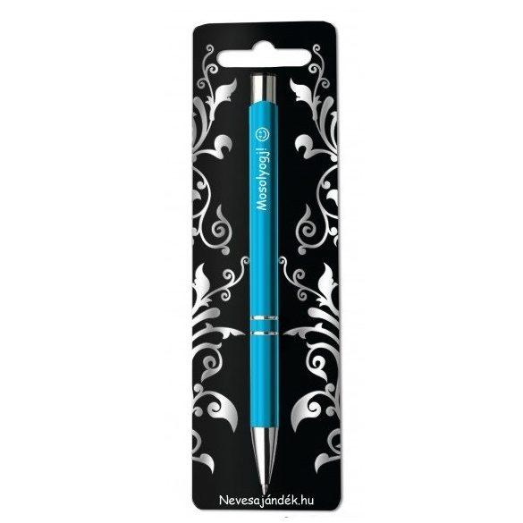 Gravírozott toll, Mosolyogj, kék