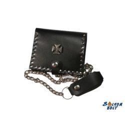 Leather wallet, cross