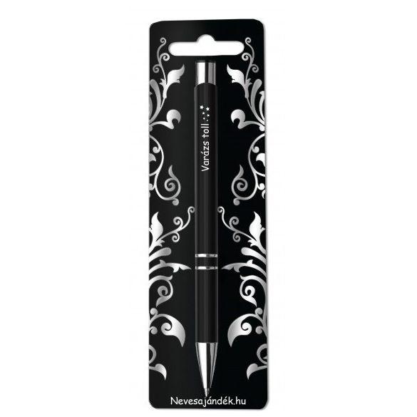 Gravírozott toll, Varázs toll, fekete