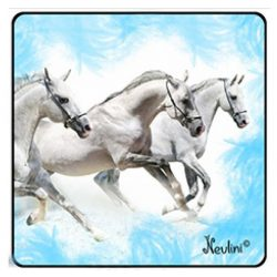 Lovas hűtőmágnes, fehér lovak