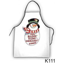 Szakács kötény, hóember, karácsony