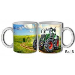 Bögre, zöld traktor
