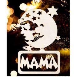 Karácsonyfa dísz, Mama, hold