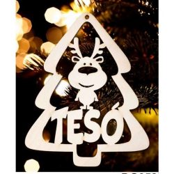 Karácsonyfa dísz, Tesó, fenyőfa és rénszarvas