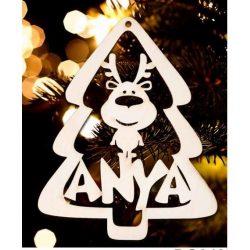 Karácsonyfa dísz, Anya, fenyőfa és rénszarvas