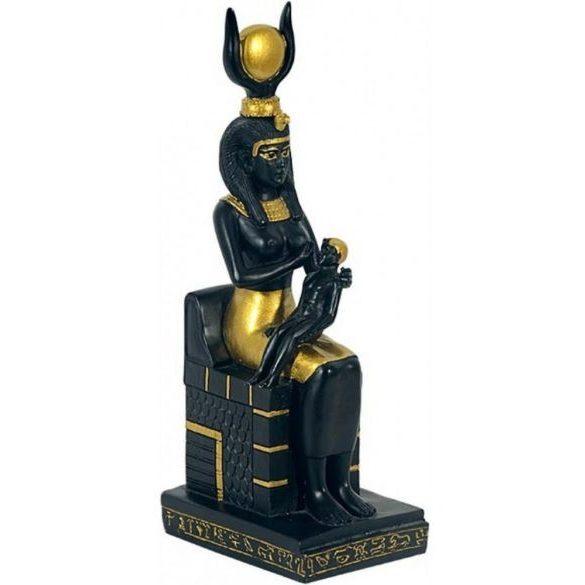 Isis Hórusszal egyiptomi szobor