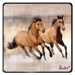 Lovas hűtőmágnes, barna ló pár