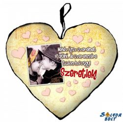 Szív alakú párna, nehéz igaz szerelmet...