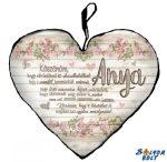 Szív alakú párna, Anyák napja, Anya köszönöm, hogy elviselted az elviselhetetlent