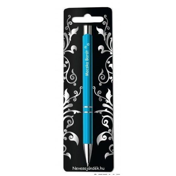 Gravírozott toll, Macska barát, kék