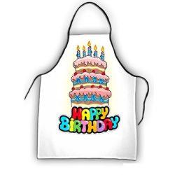 Születésnapi kötény, Happy Birthday, torta