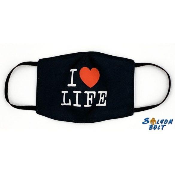 Vicces szájmaszk, I love life
