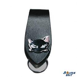 Fekete macska kulcstartó