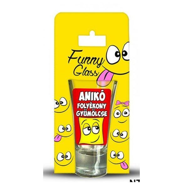 Anikó pálinkás pohár