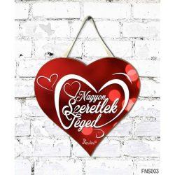 Szív tábla falra, szívek, Nagyon szeretlek téged, szerelmes ajándék
