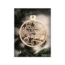 Karácsonyfa dísz, Boldog karácsonyt