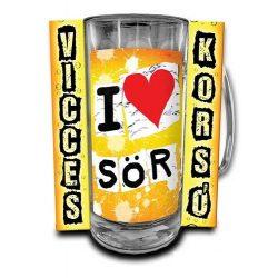 Vicces korsó, I love sör