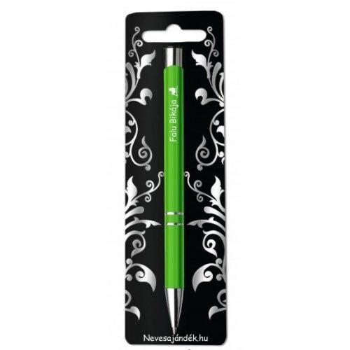 Gravírozott toll, Falu bikája, zöld